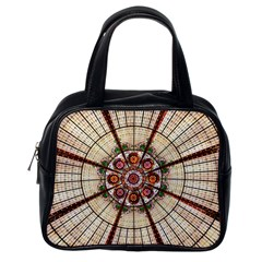 Pattern Round Abstract Geometric Classic Handbag (one Side)