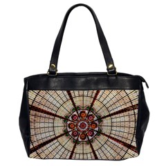 Pattern Round Abstract Geometric Oversize Office Handbag