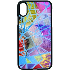 Wallpaper Stained Glass Apple Iphone Xs Seamless Case (black)