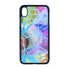 Wallpaper Stained Glass Apple Iphone Xr Seamless Case (black)