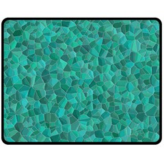 Turquoise Double Sided Fleece Blanket (medium)  by LalaChandra