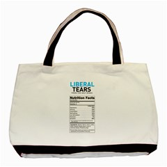 Liberal Tears  Funny With Supplement Facts Custom Colors Basic Tote Bag by snek