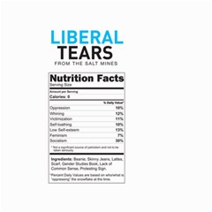 Liberal Tears  Funny With Supplement Facts Custom Colors Small Garden Flag (two Sides) by snek