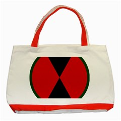 United States Army 7th Infantry Division Insignia Classic Tote Bag (red) by abbeyz71