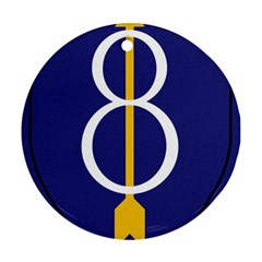 United States Army 8th Infantry Division Shoulder Sleeve Insignia Ornament (round)