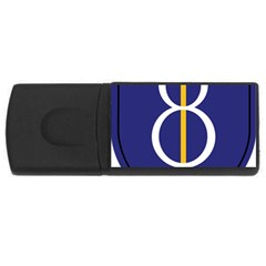 United States Army 8th Infantry Division Shoulder Sleeve Insignia Rectangular Usb Flash Drive