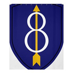 United States Army 8th Infantry Division Shoulder Sleeve Insignia Shower Curtain 60  X 72  (medium)  by abbeyz71