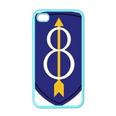 United States Army 8th Infantry Division Shoulder Sleeve Insignia Apple Iphone 4 Case (color)