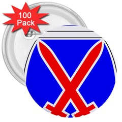 United States Army 10th Mountain Division Shoulder Sleeve Insignia 3  Buttons (100 Pack)  by abbeyz71