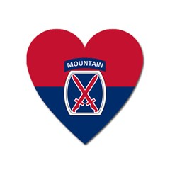 Flag Of United States Army 10th Mountain Division Heart Magnet by abbeyz71