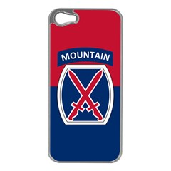 Flag Of United States Army 10th Mountain Division Apple Iphone 5 Case (silver)