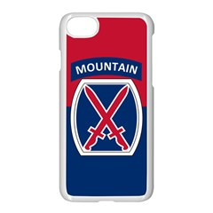 Flag Of United States Army 10th Mountain Division Apple Iphone 8 Seamless Case (white)