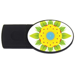 Abstract Flower Usb Flash Drive Oval (2 Gb)