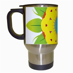 Abstract Flower Travel Mugs (white)