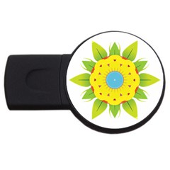 Abstract Flower Usb Flash Drive Round (4 Gb) by Alisyart