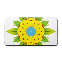 Abstract Flower Medium Bar Mats
