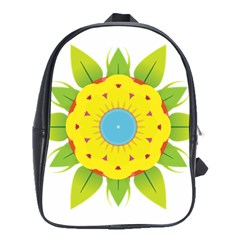 Abstract Flower School Bag (large)