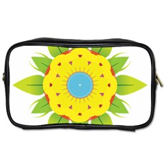 Abstract Flower Toiletries Bag (two Sides) by Alisyart