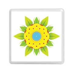 Abstract Flower Memory Card Reader (square) by Alisyart