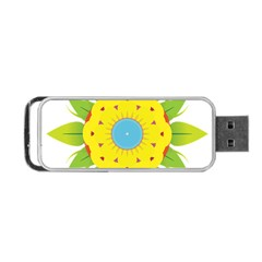 Abstract Flower Portable Usb Flash (one Side)