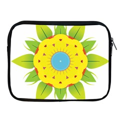 Abstract Flower Apple Ipad 2/3/4 Zipper Cases