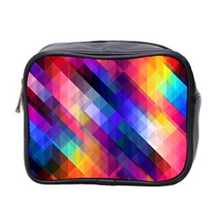 Abstract Background Colorful Mini Toiletries Bag (two Sides)