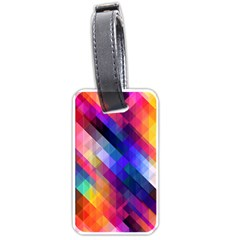 Abstract Background Colorful Luggage Tags (one Side)
