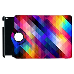 Abstract Background Colorful Apple Ipad 2 Flip 360 Case