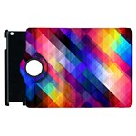 Abstract Background Colorful Apple iPad 2 Flip 360 Case Front