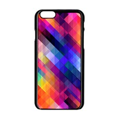 Abstract Background Colorful Apple Iphone 6/6s Black Enamel Case by Alisyart