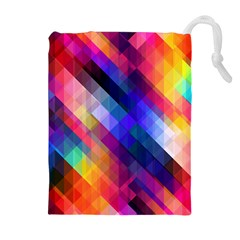 Abstract Background Colorful Drawstring Pouch (xl) by Alisyart