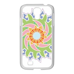 Abstract Flower Mandala Samsung Galaxy S4 I9500/ I9505 Case (white)