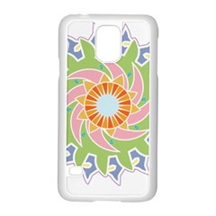 Abstract Flower Mandala Samsung Galaxy S5 Case (white) by Alisyart
