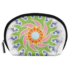 Abstract Flower Mandala Accessory Pouch (large) by Alisyart