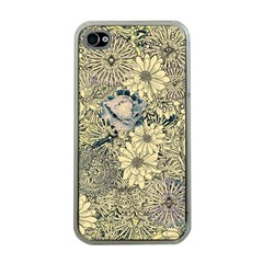 Abstract Art Botanical Apple Iphone 4 Case (clear)