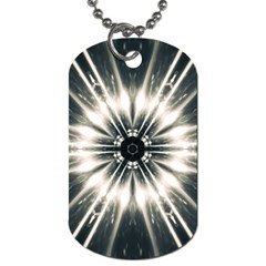 Abstract Fractal Space Dog Tag (one Side)