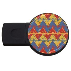 Aztec South American Pattern Zig Usb Flash Drive Round (2 Gb)
