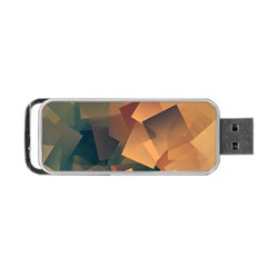 Background Triangle Portable Usb Flash (two Sides)
