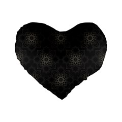 Background Star Pattern Standard 16  Premium Flano Heart Shape Cushions
