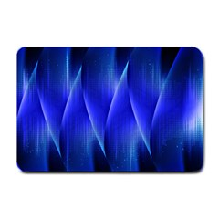 Audio Sound Soundwaves Art Blue Small Doormat  by Alisyart