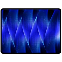 Audio Sound Soundwaves Art Blue Double Sided Fleece Blanket (large)