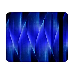 Audio Sound Soundwaves Art Blue Samsung Galaxy Tab Pro 8 4  Flip Case by Alisyart
