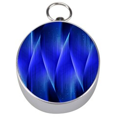 Audio Sound Soundwaves Art Blue Silver Compasses by Alisyart