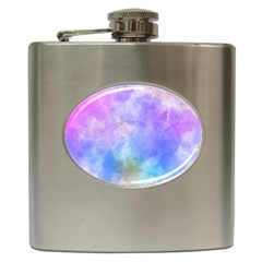 Background Abstract Purple Watercolor Hip Flask (6 Oz)