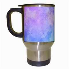 Background Abstract Purple Watercolor Travel Mugs (white)