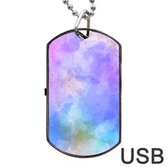 Background Abstract Purple Watercolor Dog Tag Usb Flash (two Sides) by Alisyart