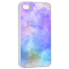 Background Abstract Purple Watercolor Apple Iphone 4/4s Seamless Case (white)