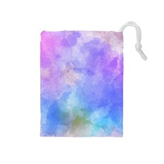 Background Abstract Purple Watercolor Drawstring Pouch (medium)