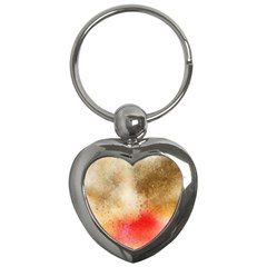 Abstract Space Watercolor Key Chains (heart)