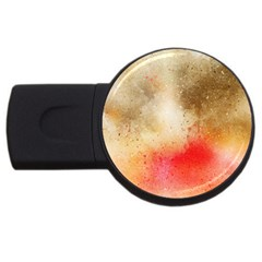 Abstract Space Watercolor Usb Flash Drive Round (2 Gb) by Alisyart